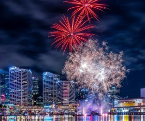 Fireworks In Darling Harbour Wallpaper