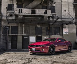 Red Chevrolet Camaro RS Wallpaper