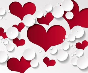 Love Heart Shaped Pattern Wallpaper