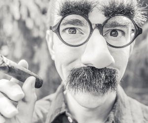 Groucho Glasses Man Wallpaper