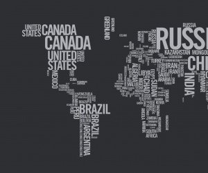 World Map Typography Wallpaper