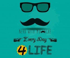 Nerd Width Mustach Wallpaper