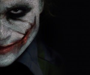 The Joker Typeface Portrait Wallpaper