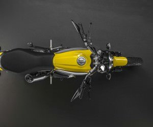 Ducati Scrambler Top View Wallpaper