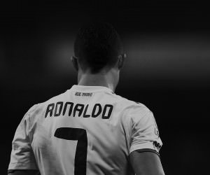 Cristiano Ronaldo in Black & White Wallpaper