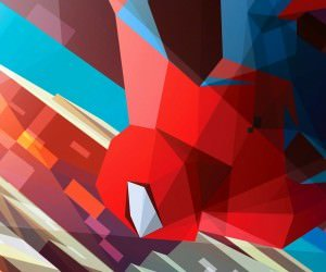 Spiderman Low Poly Illustration Wallpaper