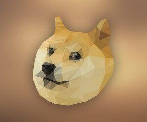Low Poly Doge Wallpaper