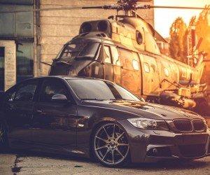 BMW E90 on Z-Performance Wheels Wallpaper