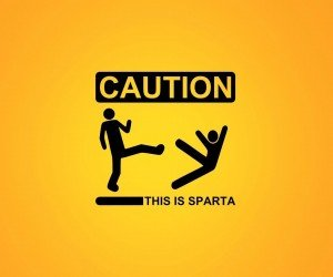 Caution: This Is Sparta! Wallpaper