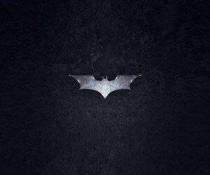 Grungy Batman Dark Knight Logo Wallpaper