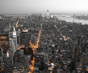 New York City by Night Wallpaper