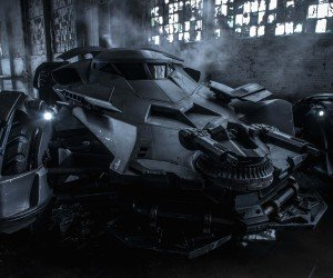 The Batman v Superman Batmobile Wallpaper