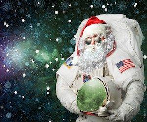 Astro Santa Wallpaper