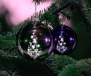 Beautiful Christmas Tree Ornaments Wallpaper