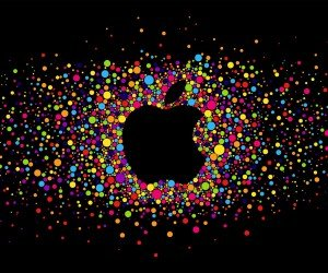 Black Apple Logo Particles Wallpaper