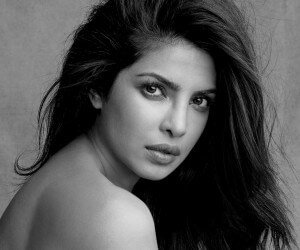 Priyanka Chopra Black & White Wallpaper