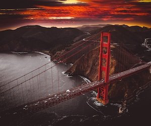 Golden Gate Bridge Sunset Wallpaper